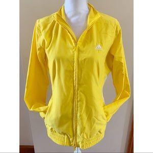 Adidas Yellow retro yellow track jacket Medium
